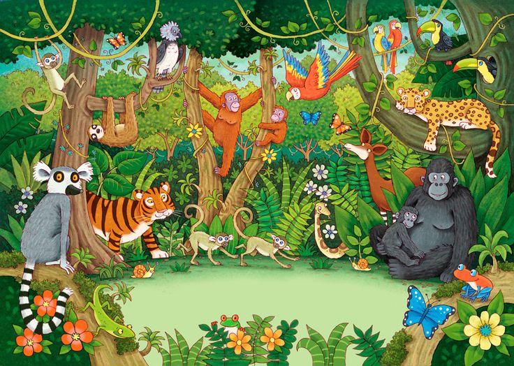 Beim Dschungel-Wimmelbild geht's tierisch zu ;)
