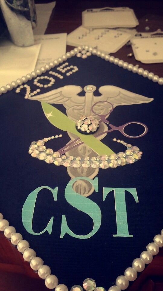 Surgical tech graduation cap