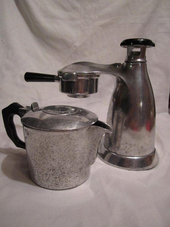Vesuviana Italian Espresso Maker, Vintage Stovetop, for Retro Art Deco Kitchen Espresso maker ...