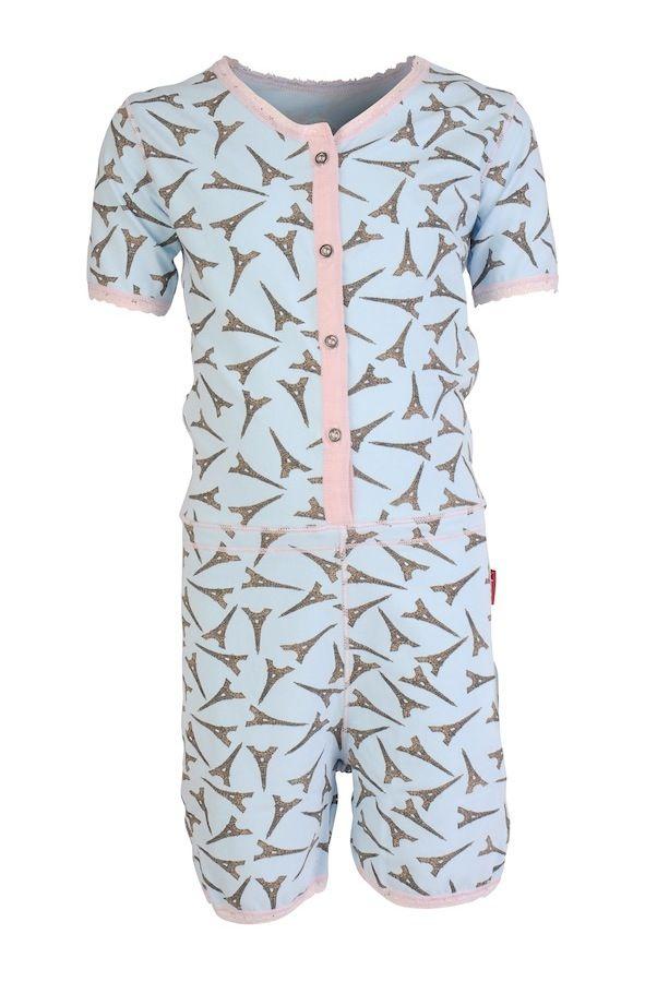 Claesen's pyjama / onesie voor meisje Eiffel Tower | #Claesens nightwear kids onesie pj's for girl Eiffel Tower #nightwear #pyjama #kind #onesie