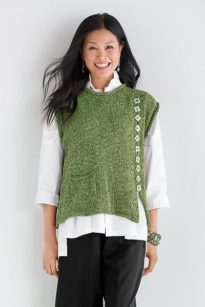 Rivet Popover by Amy Brill: Knit Sweater available at www.artfulhome.com