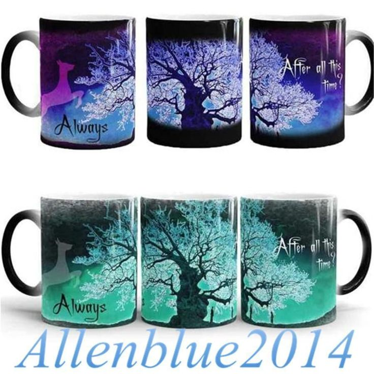 Harry Potter Deer Magic Mugs Color Changing Mug Cups After All This Time? Always