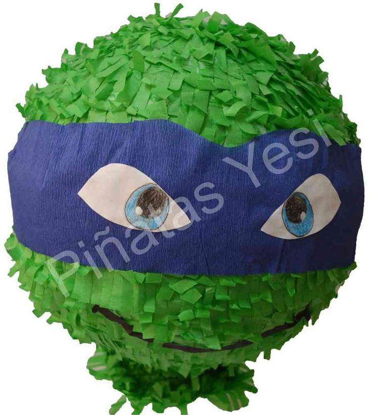 Piñata Mexicana Artesanal de Tortugas Ninja tipo balon
