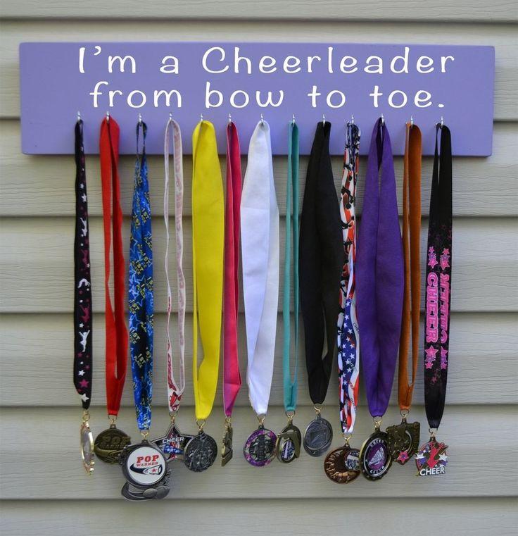 Cheerleader Medal Bow Display,Holder,Hanger,1087 From Bow to Toe Cheer Medals #EataMangoCreations