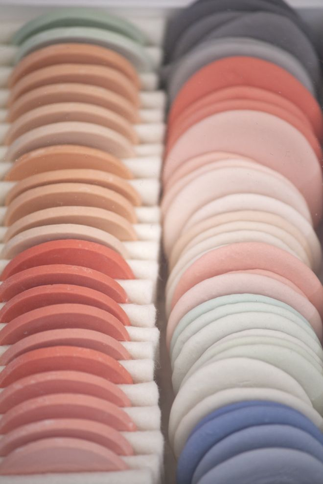 Porcelain samples by Studio WM at Milan Design Week