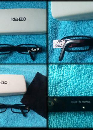 À vendre sur #vintedfrance ! http://www.vinted.fr/accessoires/autres-accessoires/25082042-lunettes-kenzo-noir-fleurs-argent-etui-chiffonnette-vue-ou-soleil