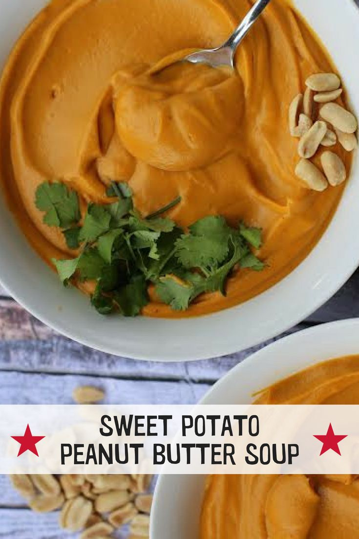 Pic's Sweet Potato & Peanut Soup  Warm and aromatic, this soup is perfect for an evening in front of an open fire, or a starter for a winter solstice party, Bonfire Night or Thanks Giving. Created by Healthy Luxe & Coconut and Bliss for us  #peanutbutter #soup #sweetpotato #recipe