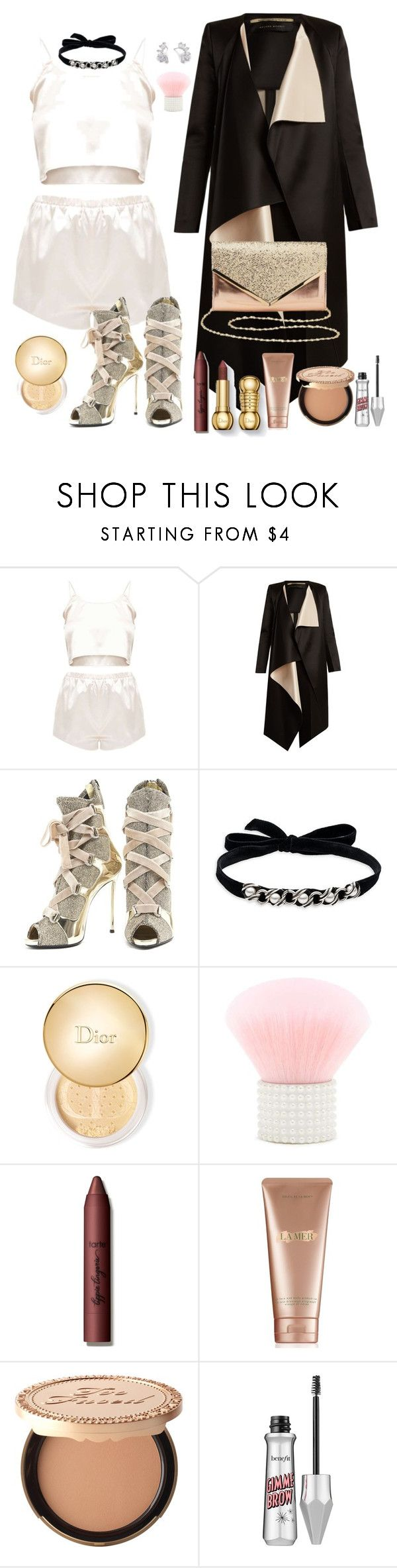 """14th wrench"" by daphne-mediana ❤ liked on Polyvore featuring Roland Mouret, Giuseppe Zanotti, DANNIJO, Christian Dior, Forever 21, tarte, La Mer, Too Faced Cosmetics and Charlotte Russe"