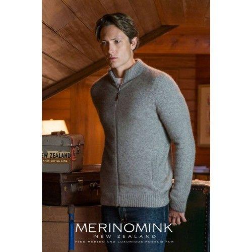 Merinomink Mens Full Zip Jacket