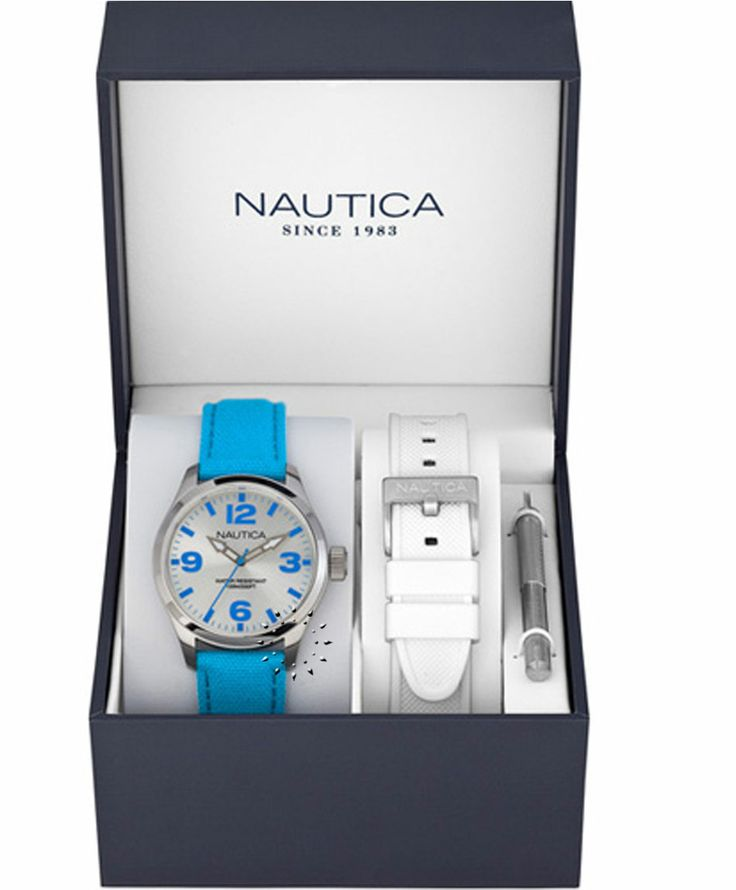 NAUTICA BFD 100 Multi Cyan Fabric Strap Box Set Η τιμή μας: 110€ http://www.oroloi.gr/product_info.php?products_id=38330