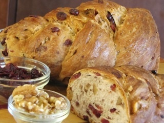 ... , walnuts, and orange. It's like a loaf of GOOD cranberry relish