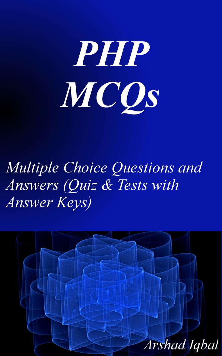 PHP MCQs has 429 multiple choice questions. PHP quiz questions and answers pdf, MCQs on PHP programming, PHP form, PHP sessions and cookies, PHP array functions, PHP IDE, PHP redirects, PHP code MCQs with answers, error handling, multidimensional arrays, superglobal arrays iteration, logical operators, looping, control structures, PHP serialization, string functions and mathematical functions.