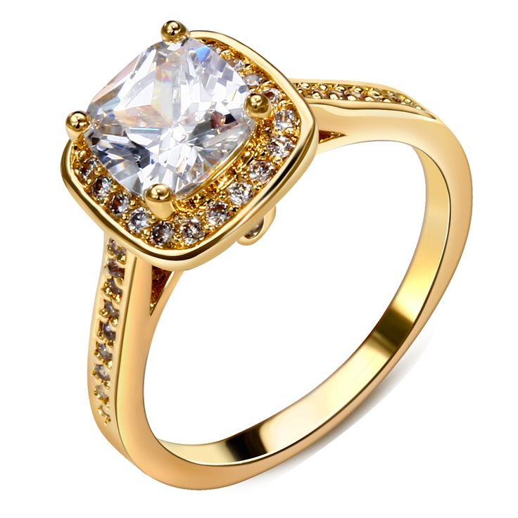 DC1989 Brand Women's Wedding Party Ring Rhodium or Gold Plated Synthetic Big Cubic Zircon Lead Free Graduation Gift Size 6 to 9
