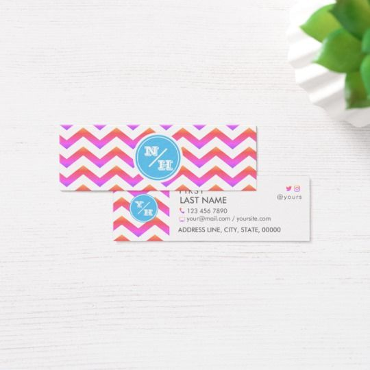 24 best trendy business cards images on pinterest chevron monogram vivid ipanema mini business card reheart