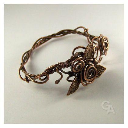 """Braccialetti handmade.  Bracciale """"Roses"""".  Galina Andreeva.  Negozio Online Fiera Masters.  Braccialetto femminile, gioielli d'autore, epoca"""