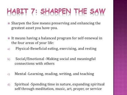 26 best Habit 7 Sharpen the Saw images on Pinterest | 7 habits ...