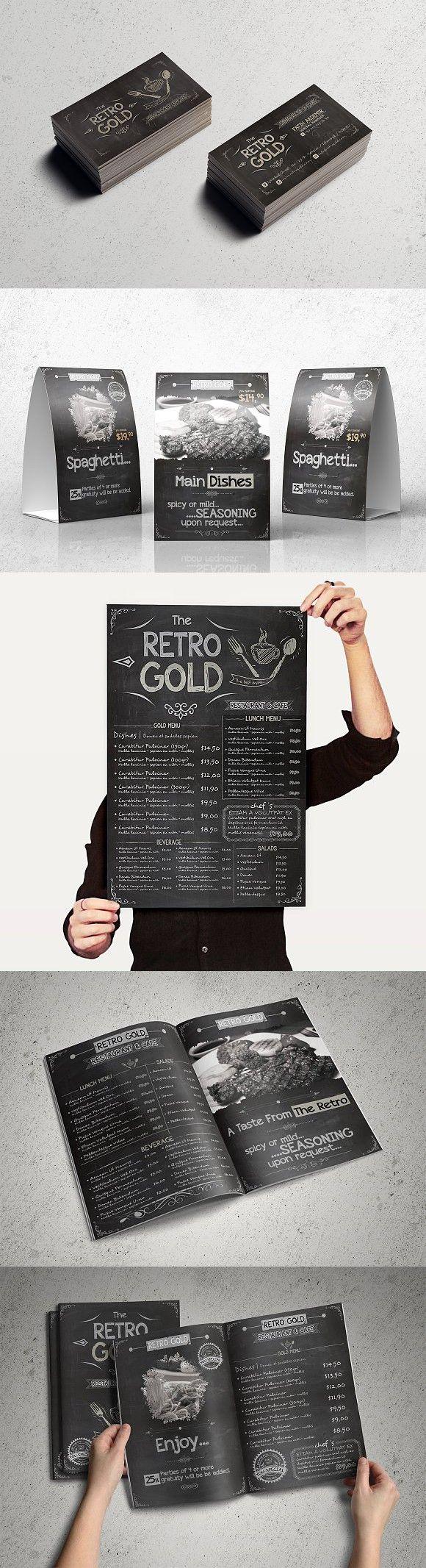 Retro Cafe u0026 Restaurant Menu Pack 61