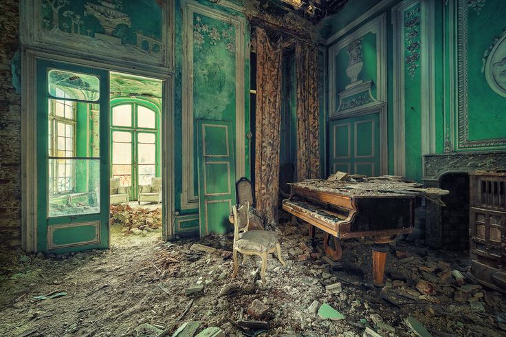 How can you abandon a place like this?  I want that courtains and armchairs!