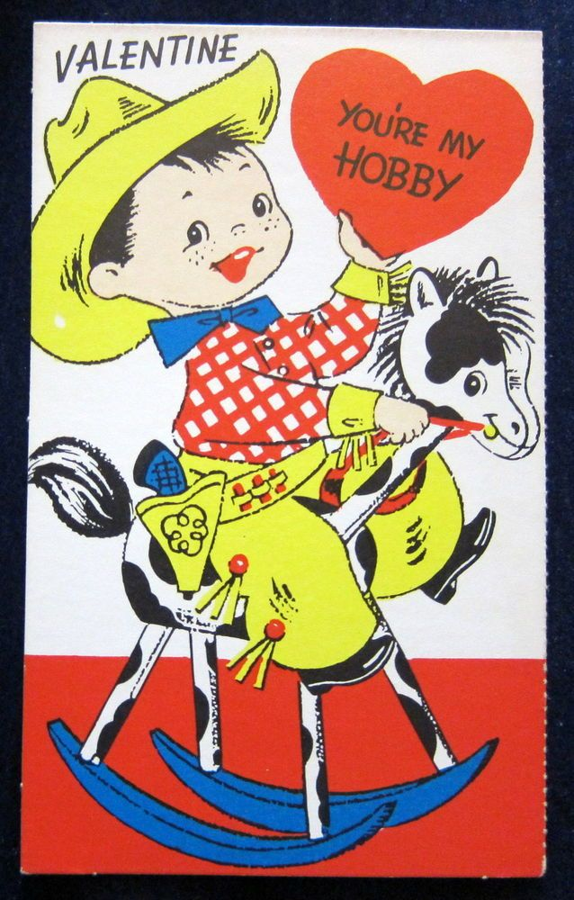 90 best images about Vintage valentine Cards Cowboys Cowgirls – Boy Valentines Cards