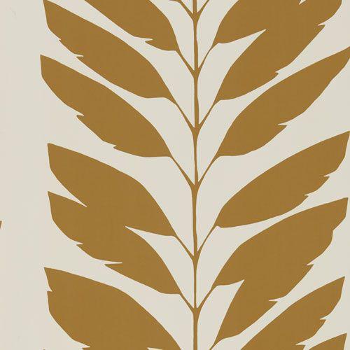 Tjusiga bladrankor i beige och kanel från kollektionen Levande 111310. Klicka för fler fina tapeter till ditt hem!