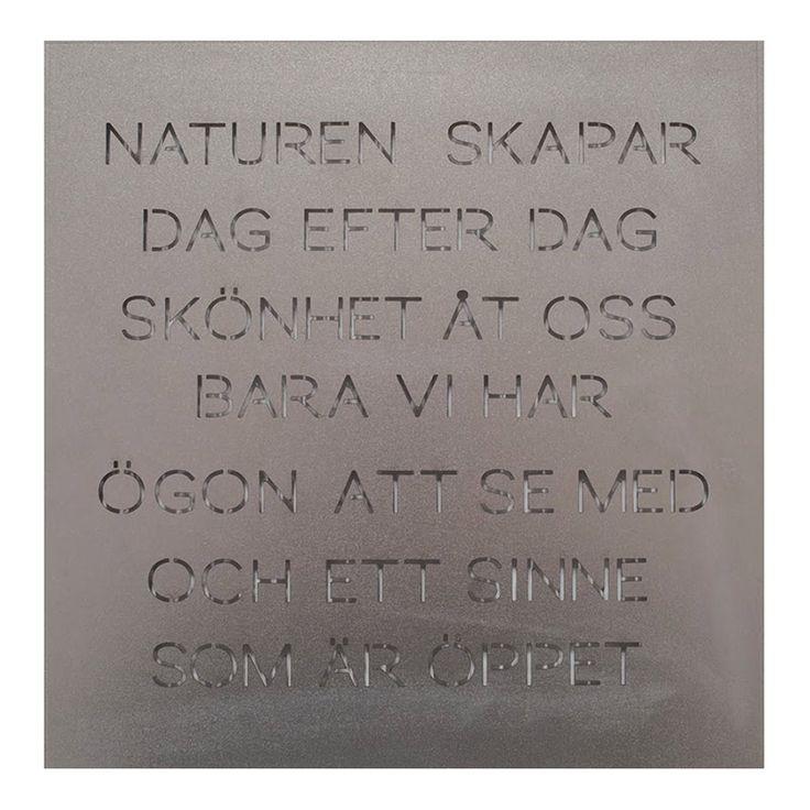 naturen-silver.jpg - ODLA Trädgårdspoesi NATUREN SKAPAR - Heminredning på nätet hos Inreda.com