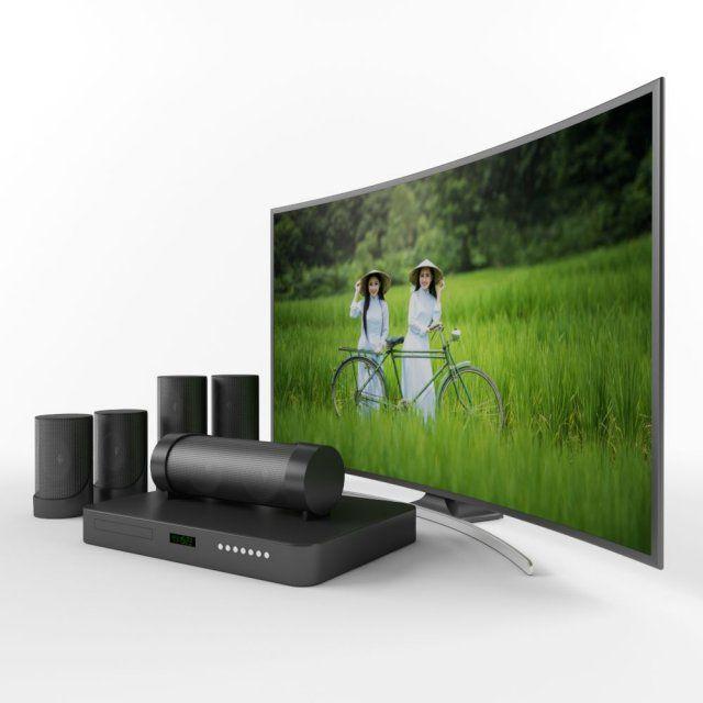 Samsung curved television 3D Model .max .c4d .obj .3ds .fbx .lwo .stl @3DExport.com by kapsamaalani