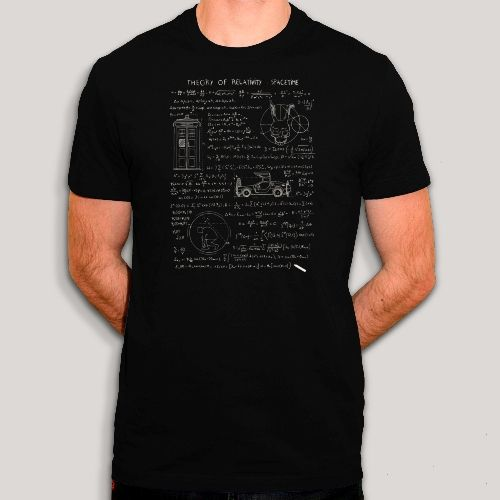T-shirt Theorie de la relativité, Doctor Who, Donnie Darko