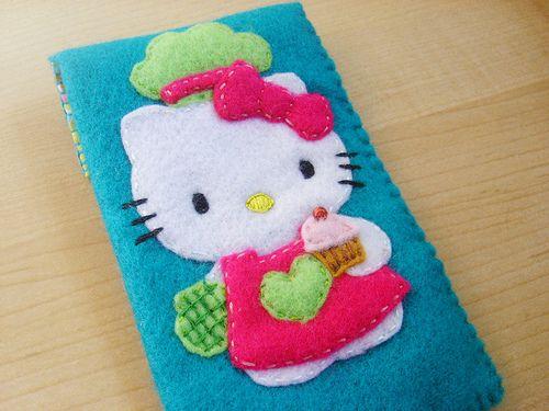 Hello kitty felt case