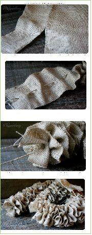 krans of slinger van jute
