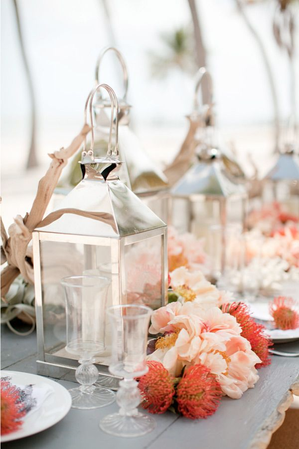 Lanterns are a beautiful centerpiece idea