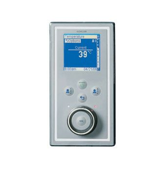 DTV Digital Auxiliary Interface Panel (external use only)  Features:    Polycarbonate construction.  Satin chrome with polished chrome accents.  Auxilary interface is appropriate for installation outside the shower and within 7.6m of valve. Note: Primary interface is also required.  Advanced digital platform that wraps water, sound and steel together in a seamless tapware system.