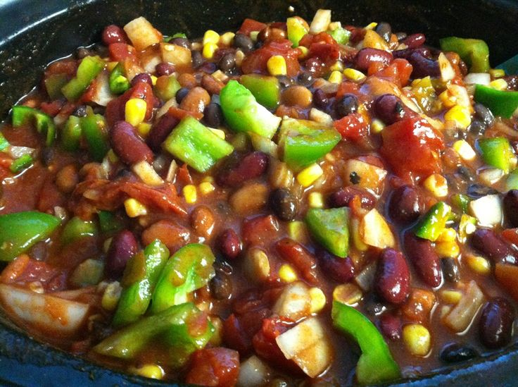 Skinny Crockpot Chicken Taco Chili | Eating Right | Pinterest