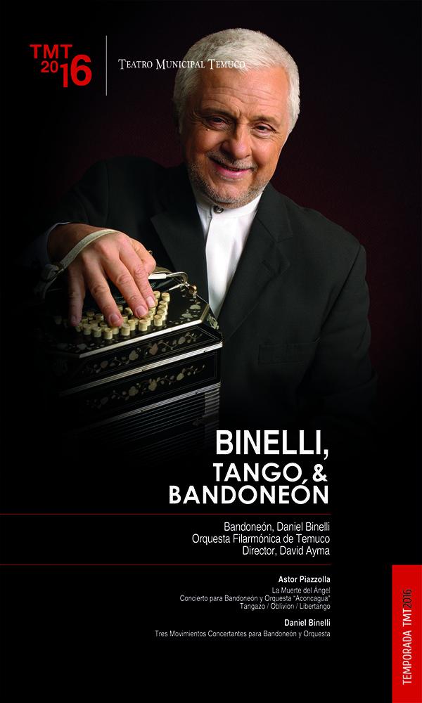 Tango, Homenaje a Piazzolla, Teatro Municipal de Temuco, TMT2016, Orquesta Filarmónica de Temuco