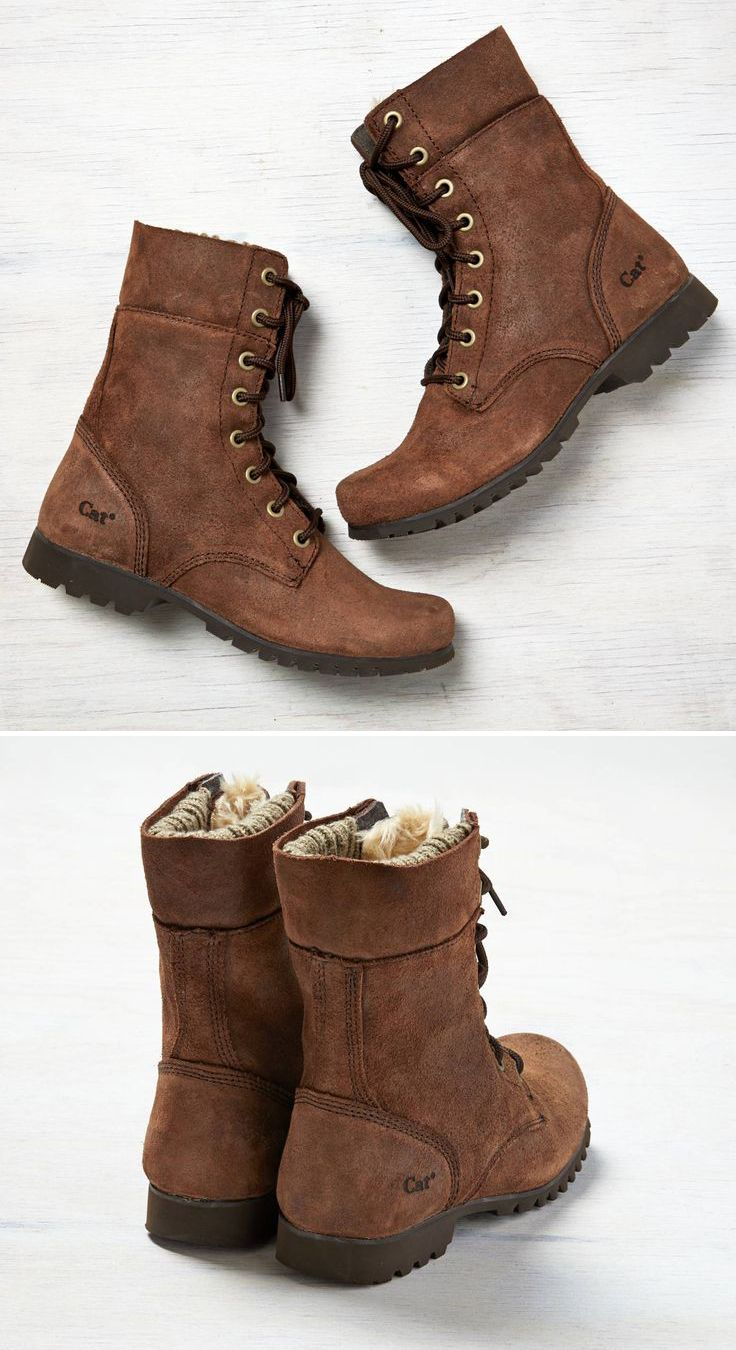 Brown Boots - they're fuzzy inside!