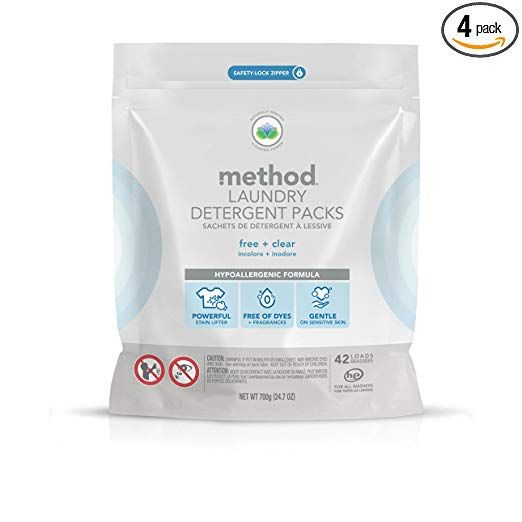 Method Laundry Detergent Packs Free Clear 4 Count Sum Total