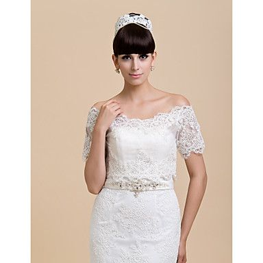 korte mouw kant bruiloft / speciale gelegenheid / casual wraps bolero schouderophalen – EUR € 45.59