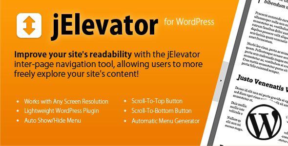 jElevator Plugin for WordPress - CodeCanyon Item for Sale