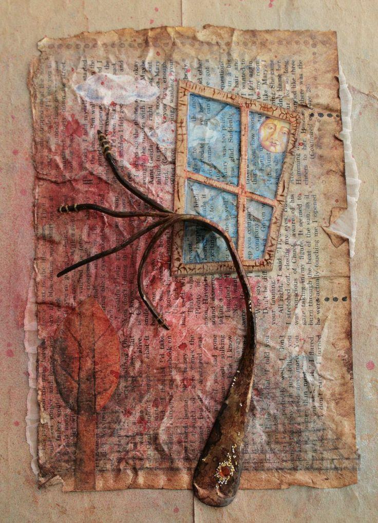 Love this polish artist  Agnieszka Anna- that's a skewed FORK --  Blog pokazujący prace plastyczne z pogranicza technik: mixed-media, collage (kolaż), assemblage (asamblaż)