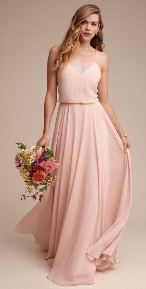 Blush bridesmaid dress. So super pretty!!