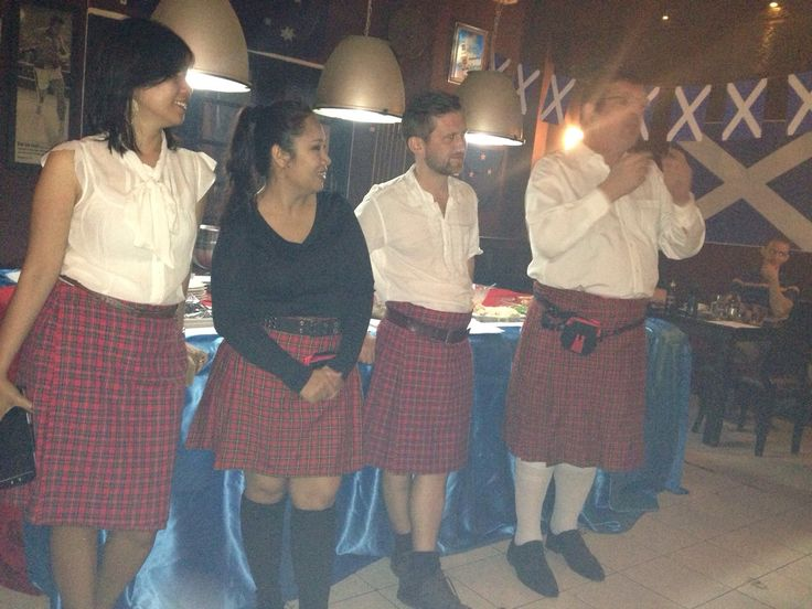 Burns Night, January 2015. Got the Kilts, got the Haggis, got the Whiskey, got the Bagpipes (well, from the can ...), GOT A GREAT PARTY!