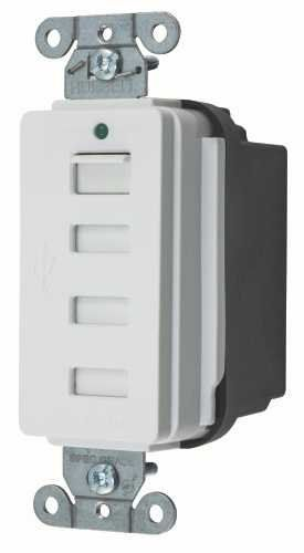 17 best ideas about outlet wiring hiding wires hubbell wiring hubbell style line decorator usb charger outlet 4 port white usb4w more
