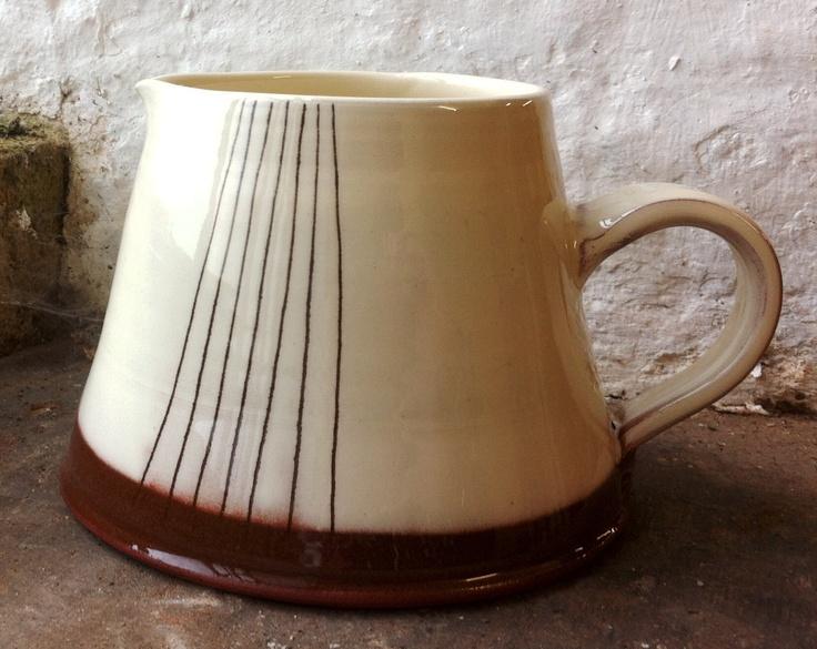 Striped jug  www.suzanne-king.co.uk