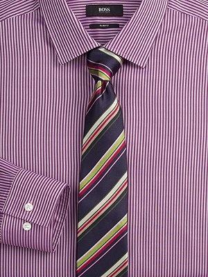 Mens Cravate En Soie Avec Fil Bande Diagonale Bigi Cravatte Milano LJEZxpp