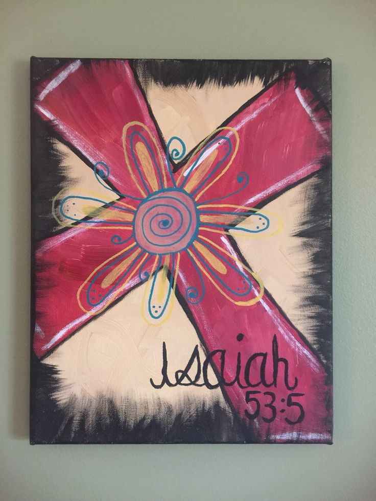 Cross canvas Painting, Scripture Painting, Christian Painting, Original Painting by BluegrassCraftCoUS on Etsy https://www.etsy.com/listing/538151017/cross-canvas-painting-scripture-painting