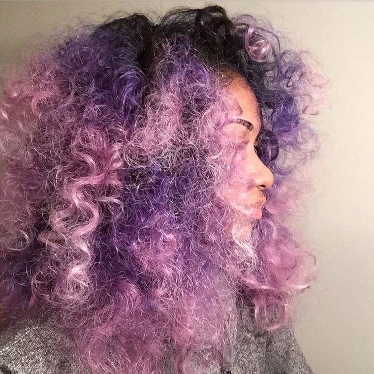 Curly Galaxy Hair !