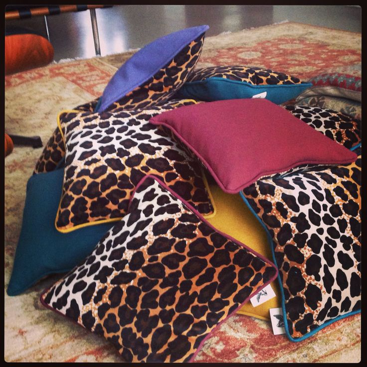 Lovin' Leopard pilows at www.roughrugs.com
