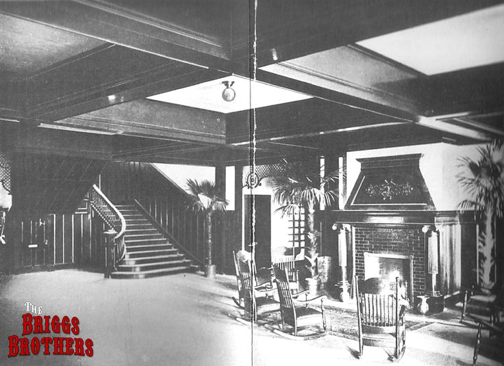 From a 1904 promotional brochure showing the main lobby of for Period hotel