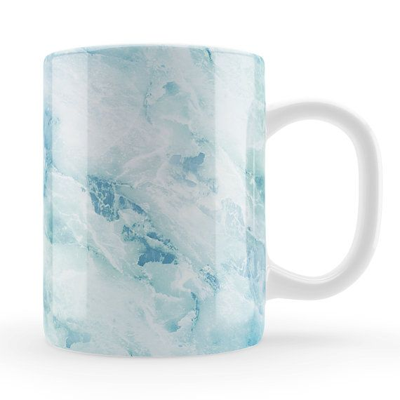 Ocean Marble Mug Unique unusual blue birthday gift by LoveMugsUK