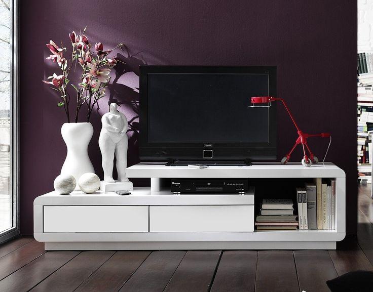 Les Meilleures Images Du Tableau TV Furniture Sur Pinterest - Meuble tv blanc laque cdiscount pour idees de deco de cuisine
