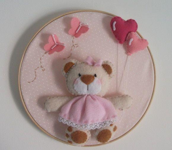 Quadro de Maternidade - Tema Ursa